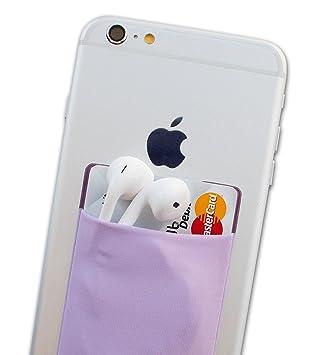 Atkolé Wallet - Funda-Cartera Adhesiva (con pegamento) para Celular con cinta adhesiva (Púrpura) de 3M. Un accesorio indispensable para celulares, un ...