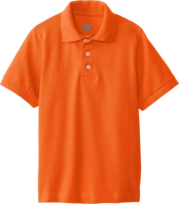 Dickies Boys' Short Sleeve Pique Polo: Clothing