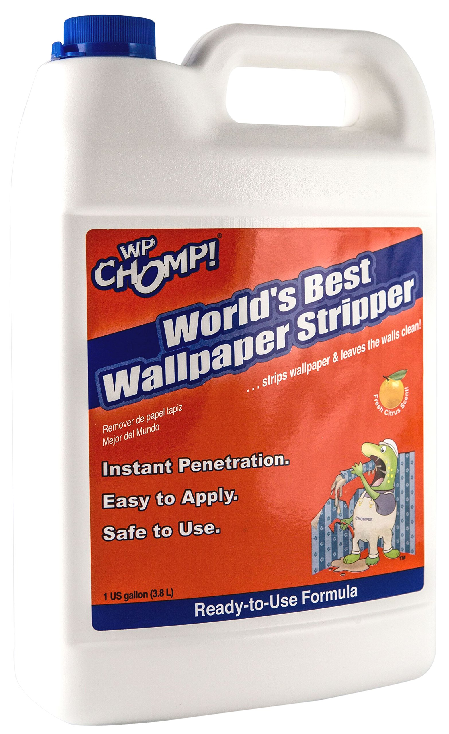 WP Chomp World's Best Wallpaper Stripper: and Sticky Paste Remover, Citrus Scent 1 Gallon by WP Chomp