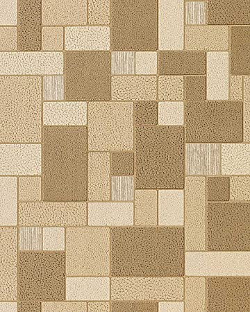 Wallpaper Wall Vinyl EDEM 585 21 Modern Mosaic Tile Decor Washable Coffee Brown Caramel