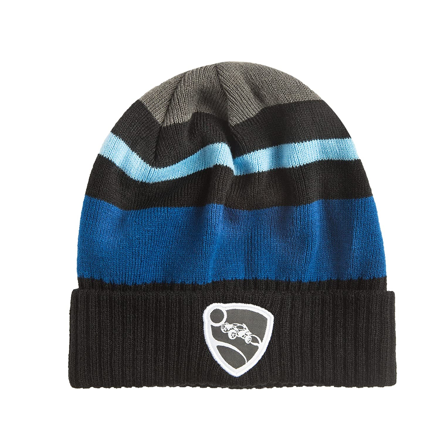 JINX Rocket League Synergy Knit Beanie (Black/Blue, One Size) for Video Game Fans