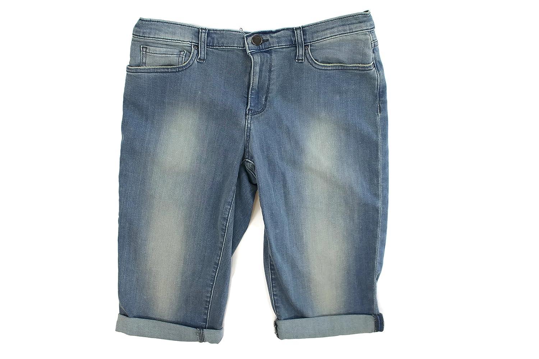 8d45c9ee30a DKNY Jeans Women s Cuffed Stretch Denim Bermuda Shorts at Amazon ...