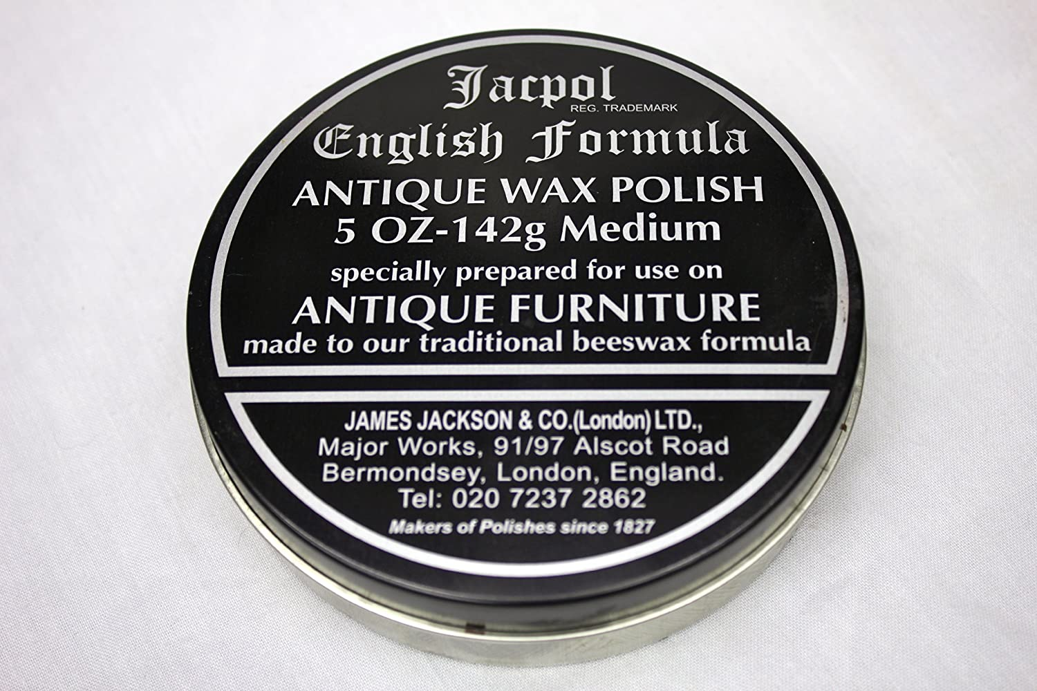 Jacpol Beeswax English Formula Antique Furniture Wax Polish (Medium Shade) - 5oz 142g James Jackson & Co (LONDON) Small-Medium