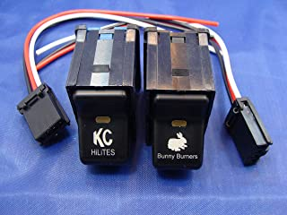Jeep TJ Wrangler Rocker Switch Pair- KC Lights / Bunny Buster Switches 1997-2006