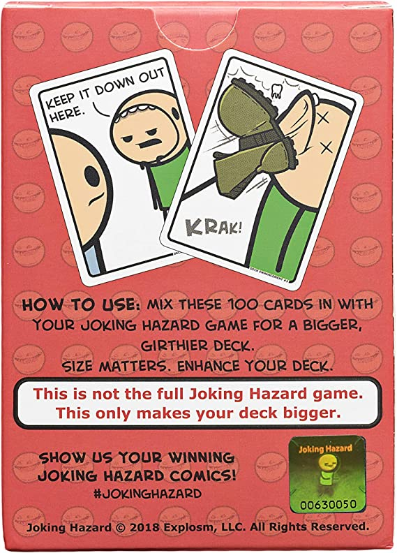 A Set of Joking Hazard Game Cards Deck Enhancement #1 Adults Funny Party Games