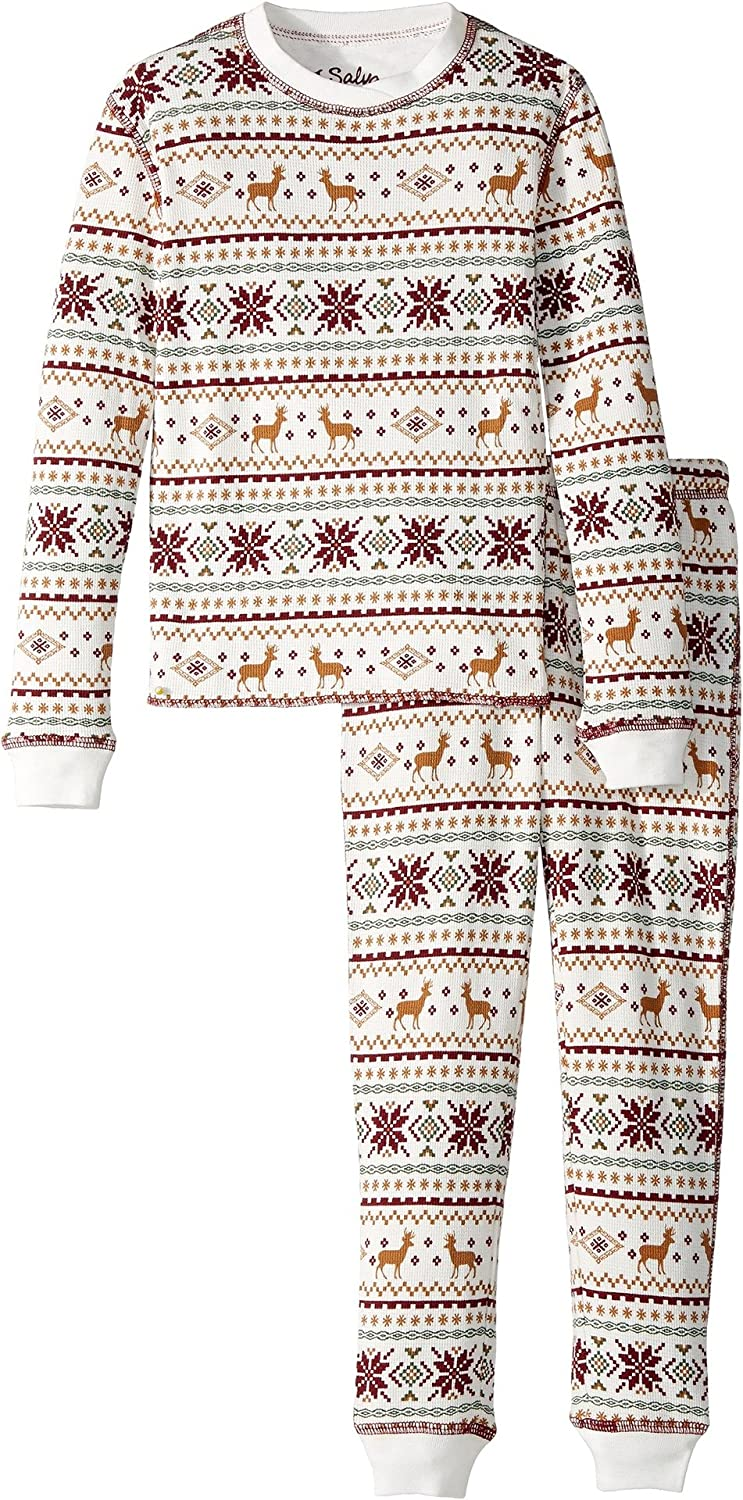Salvage Kids Womens Fair Isle jammie Set Toddler//Little Kids//Big Kids P.J