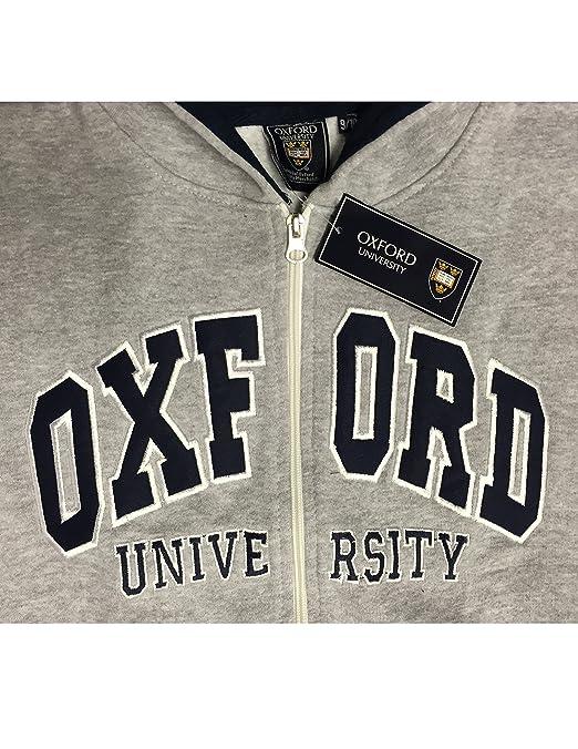 Oxford University - Sudadera con capucha - para niño H-Grey/Navy: Amazon.es: Ropa y accesorios