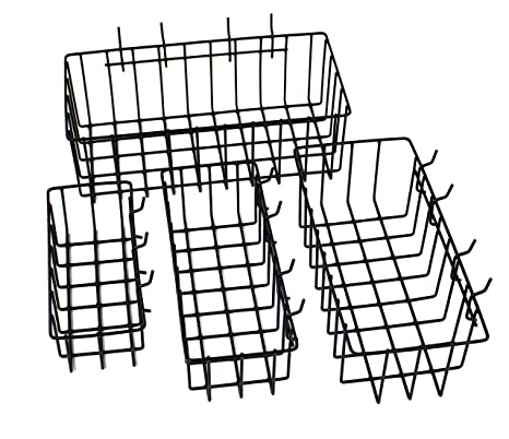toolassort pegboard basket set of 4 hooks easily to arrange Bin Shelving toolassort pegboard basket set of 4 hooks easily to arrange accessories anizer bins transform