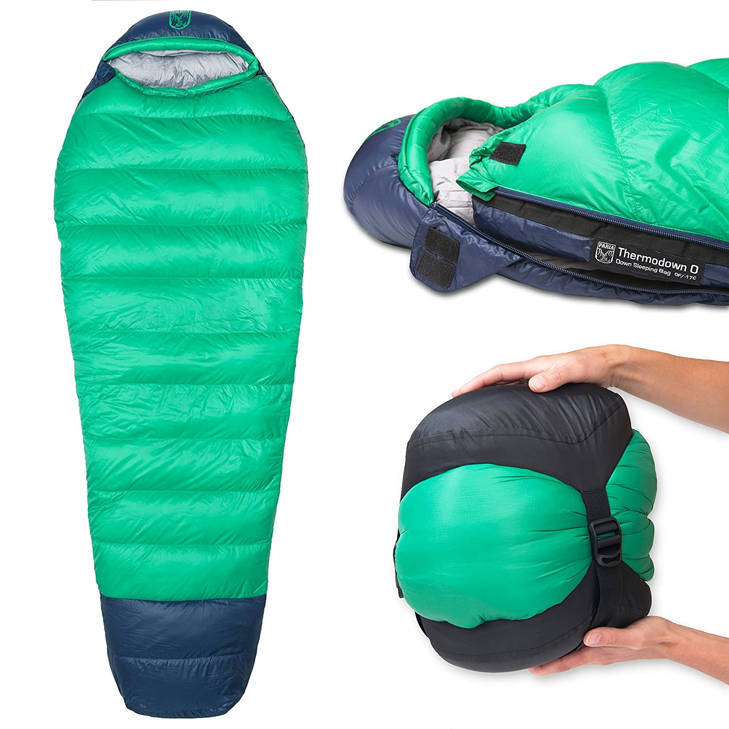 new product d0eaa d9967 Paria Outdoor Products Thermodown 0 Degree Down Mummy Sleeping Bag -  Ultralight Cold Weather, 4 Season Bag - Perfect for Backcountry Camping and  ...
