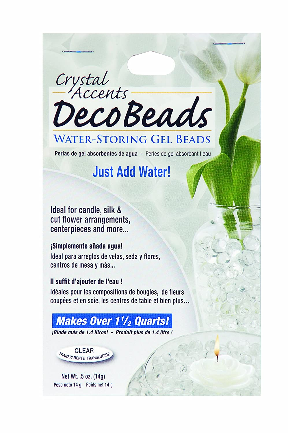 Deco Beads Db C Clear 1 2 Ounce Packet Plant Original Hn Crystal 15 G Container Accessories Garden Outdoor