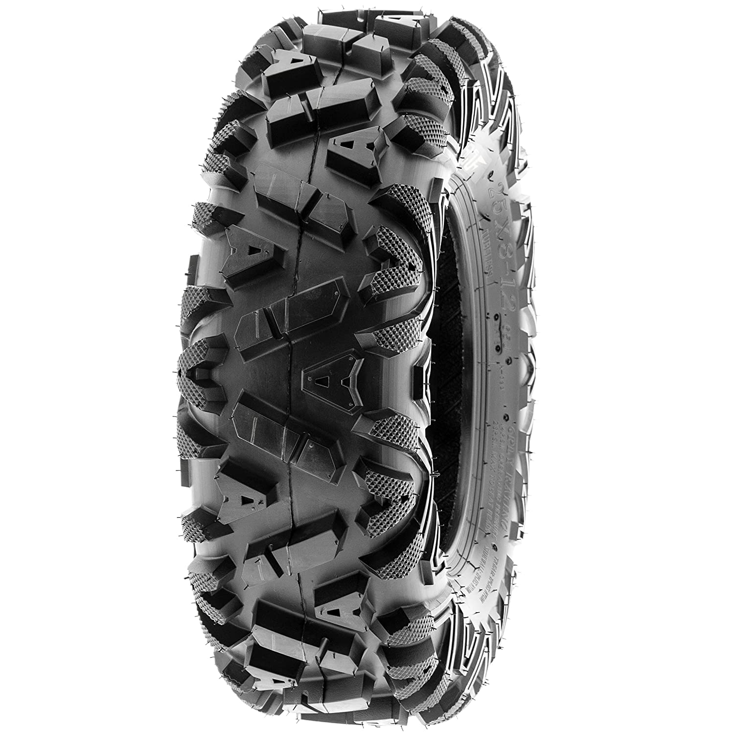 Tubeless A033 Set of 4 SunF Power.I 25x8-12 Front /& 25x11-10 Rear ATV UTV all-terrain Tires 6 PR