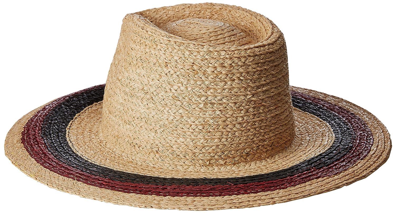 b6ea75bb70f Brixton Men s Hampton Wide Brim Straw Fedora Hat Brixton Young Men s ...
