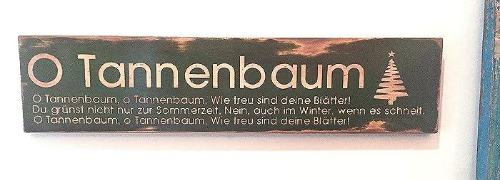 Tannenbaum Lyrics.Amazon Com O Tannenbaum Sign O Christmas Tree In German Oh