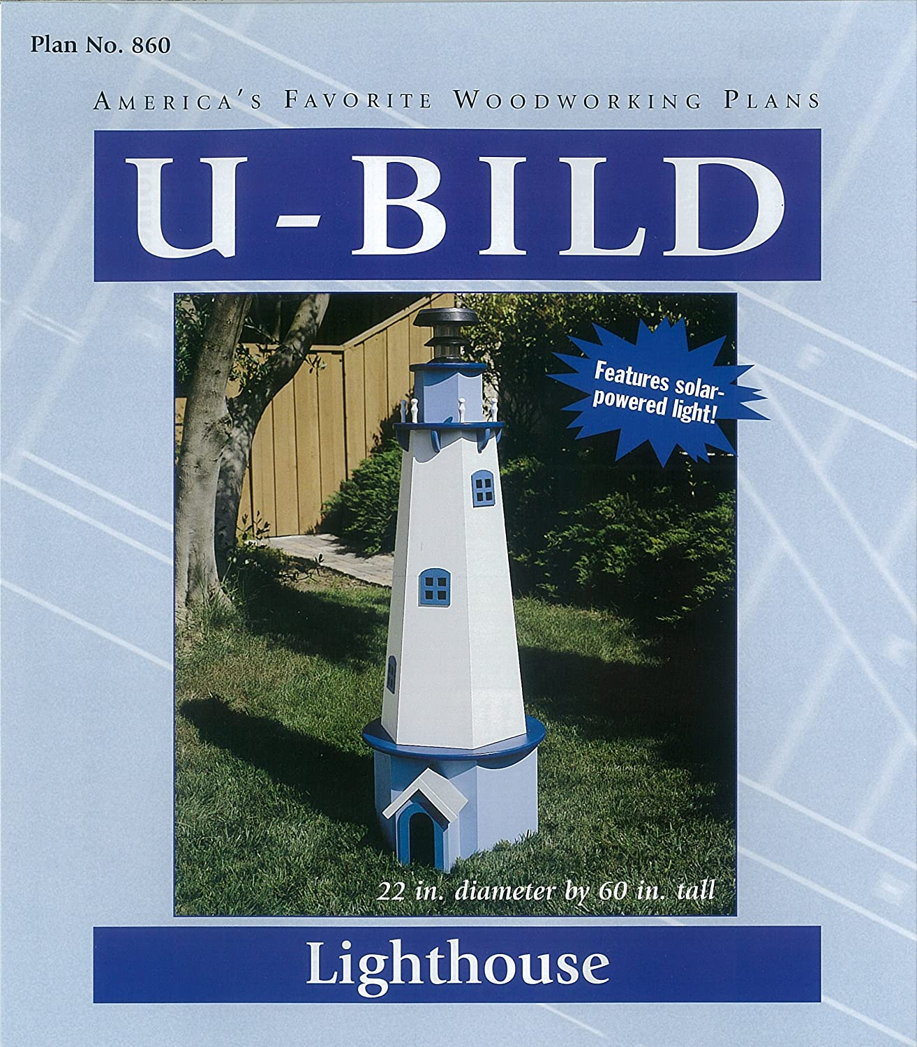 Woodworking Project Plan to Build a 5ft New England Lighthouse - Seasonal Woodworking Project Plans -