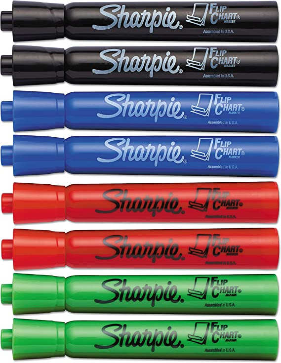 Sharpie – Caja de rotuladores, punta redonda, pack de 8: Amazon.es ...