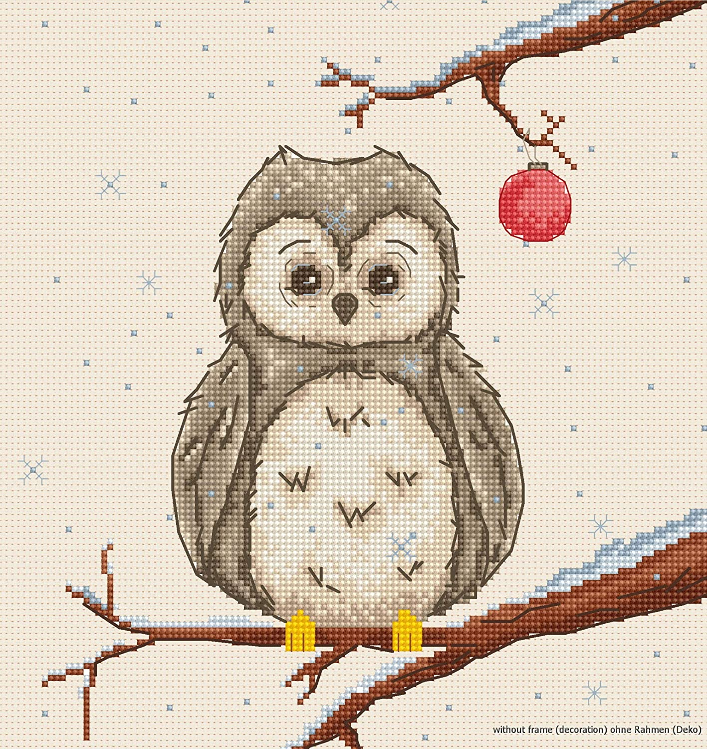 96 Little owl Counted Cross Stitch Kit with threads or CHART