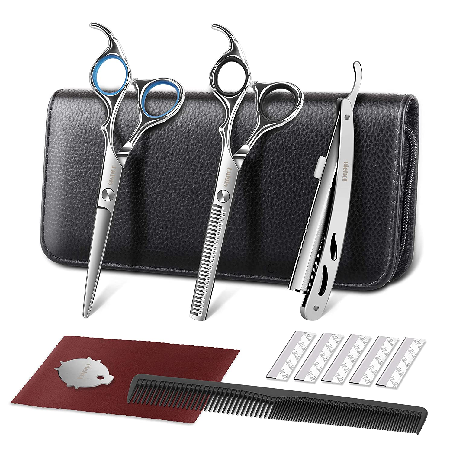 ELEHOT Hair Scissors Professional Barber Cutting Scissors Kit