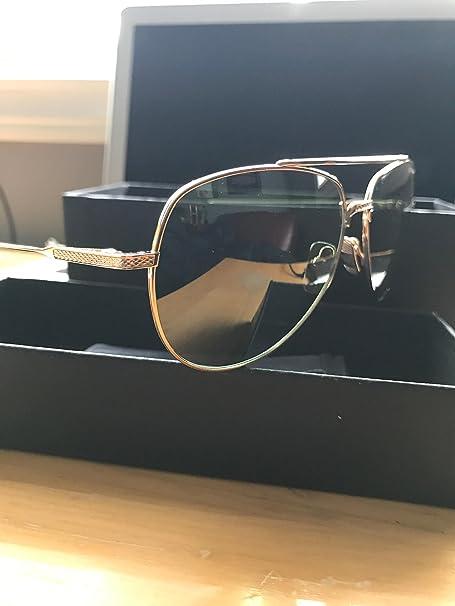 c8e345a3fbc4 Dita Flight.005 Unisex Aviator Sunglasses 12K Gold 7805-B  Amazon.ca   Clothing   Accessories