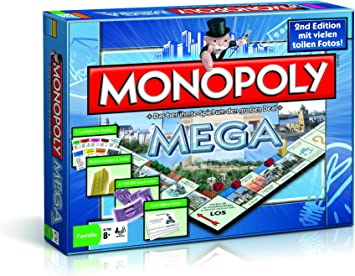 Winning Moves Monopoly Mega 2nd Edition Niños y Adultos Simulación económica - Juego de Tablero (Simulación económica, Niños y Adultos, 90 min, Niño/niña, 8 año(s), Alemán): Amazon.es: Juguetes y juegos