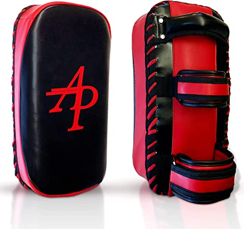 precurvato Trainerprise MMA Battito Imbottito Pad Sport Scudo AP Training Kampfsport Training Kick Pratze Thaipads