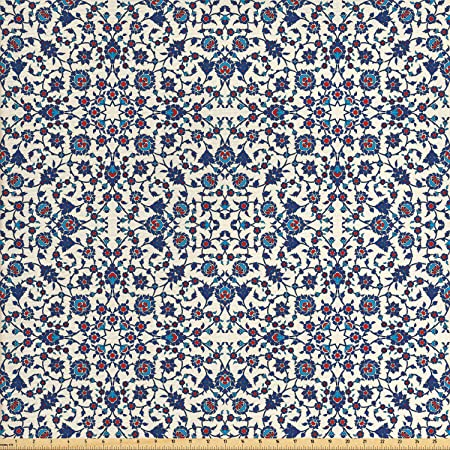 Ambesonne Fabric by The Yard Decorative Upholstery Fabric for Home Accents