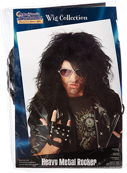 Heavy Metal Rocker Black Adult Wig California Costume Collection
