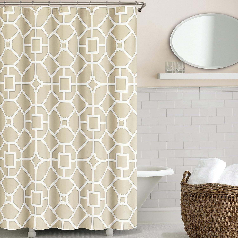 Echelon Home Gramercy Shower Curtain, Birch