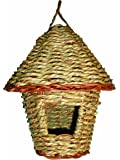 "Gardman BA05201 Woven Rope Roosting Pocket with Roof, 6"" Long x 6"" Wide x 8"" High"