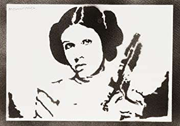 Princesse Leia STAR WARS Handmade Street Art - Artwork - Poster