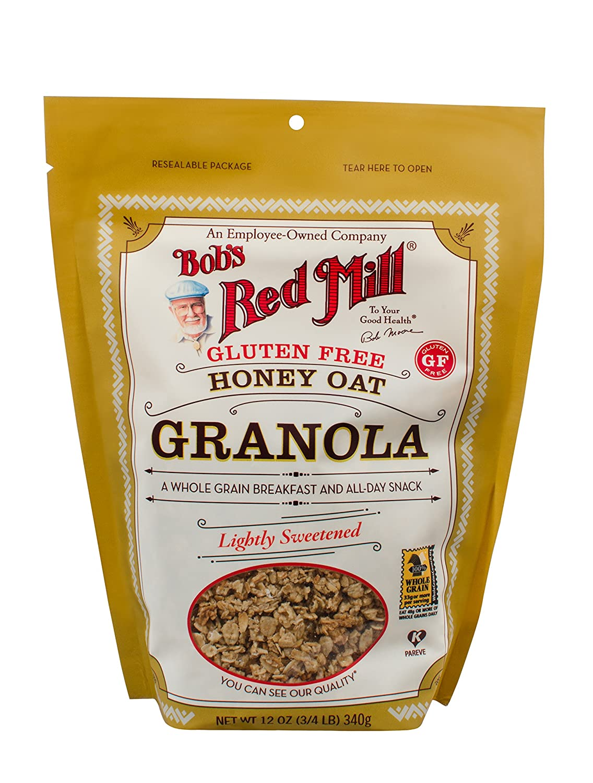 Bob's Red Mill Gluten Free Honey Oat Granola, 12-ounce