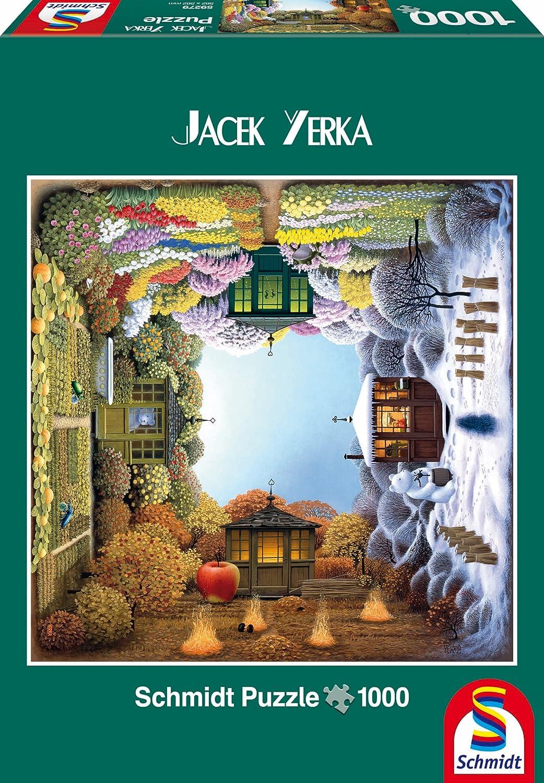 1000ピース ジグソーパズル Schmidt-Spiele 四季の森 Yerka: Garden The Yerka: 四季の森 Four-Seasons Garden 56.2×56.2cm 59279 B00DZLRWIO, あやべ漢方堂:41cb5333 --- sharoshka.org