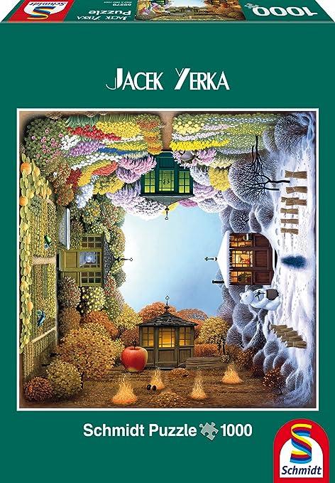 4 opinioni per Schmidt- Jacek Yerka Puzzle Il Giardino Delle Quattro Stagioni, 1000 Pezzi