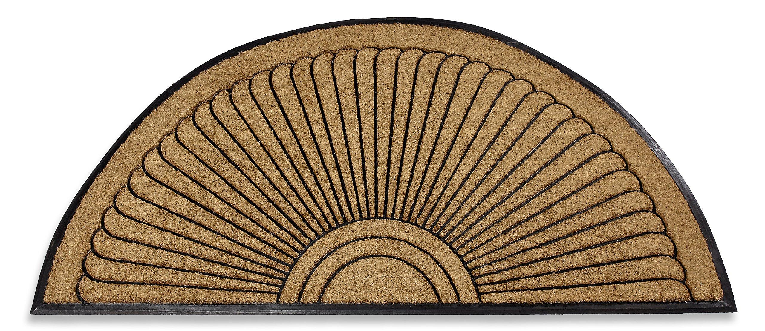 Kempf Coco Fiber Half Round in-Laid Doormat (30'' X 48'')