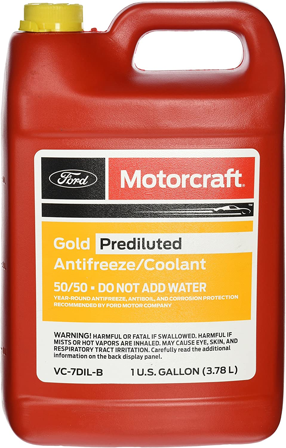 Genuine Ford Fluid VC-7DIL-B Gold Pre-Diluted Antifreeze/Coolant - 1 Gallon