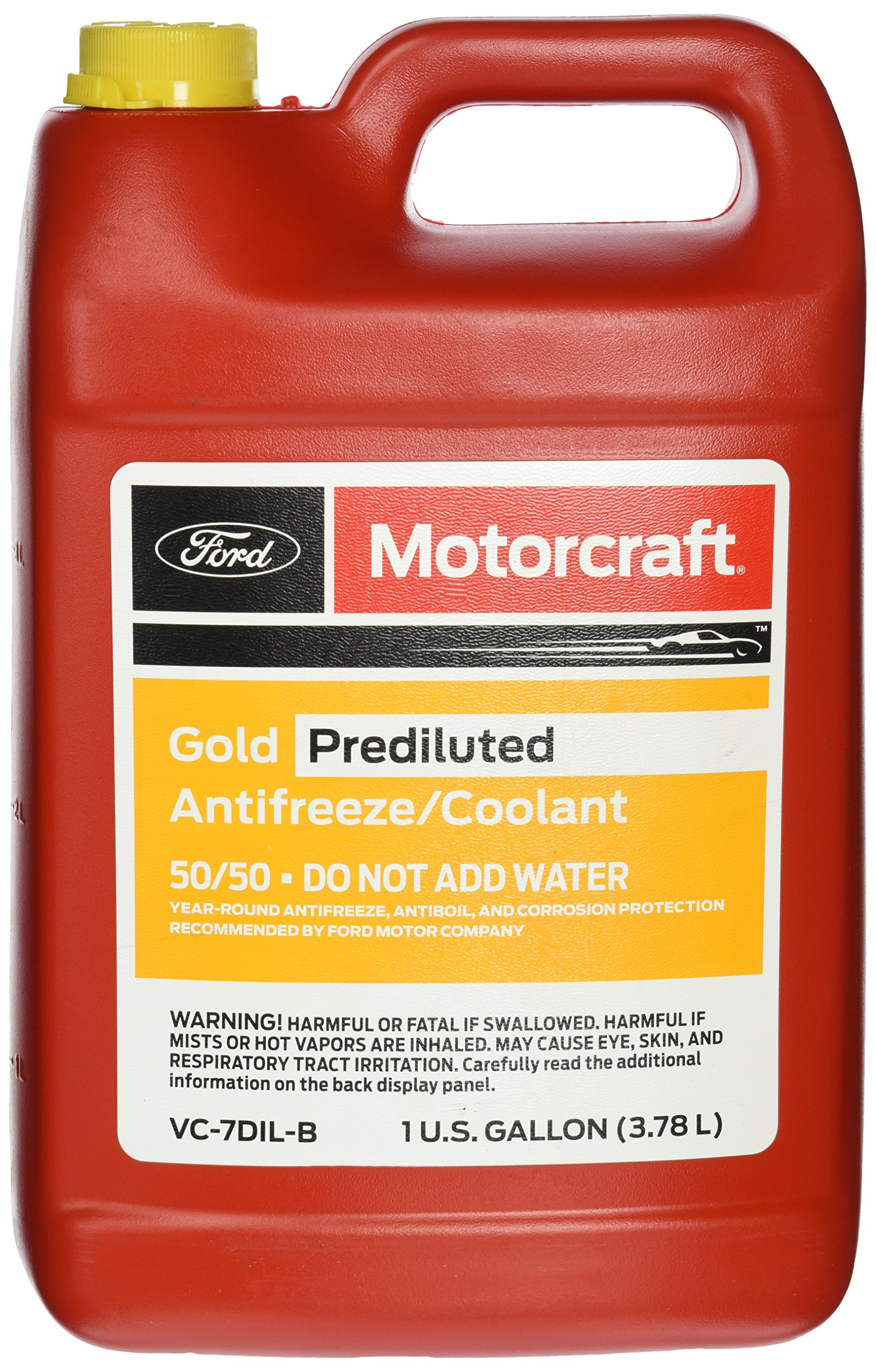 Ford Genuine Fluid VC-7DIL-B Gold Pre-Diluted Antifreeze/Coolant - 1 Gallon by Ford