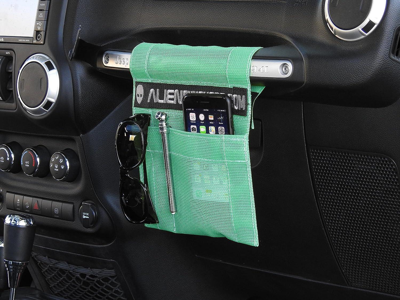 Pink ALIEN SUNSHADE Jeep Wrangler TrailPouch Multi-Purpose Mesh Storage Pouch Organizer with 10 Year Warranty