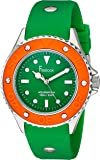 Freelook Women's HA9035-4V Green Band And Dial Orange Bezel Watch