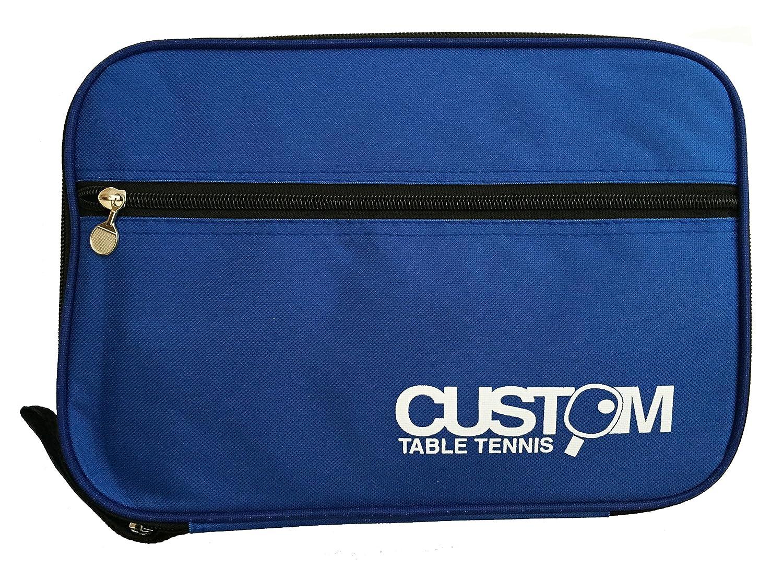 Custom Table Tennis - Funda doble para palas de ping-pong, color azul