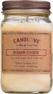 product image for Candlove Sugar Cookie Scented 16oz Mason Jar Candle 100% Soy Made in The USA
