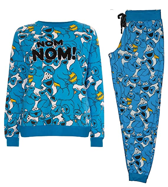 Primark damas niñas – Monstruo de las galletas de Barrio Sésamo Pijama PJ Set Jersey
