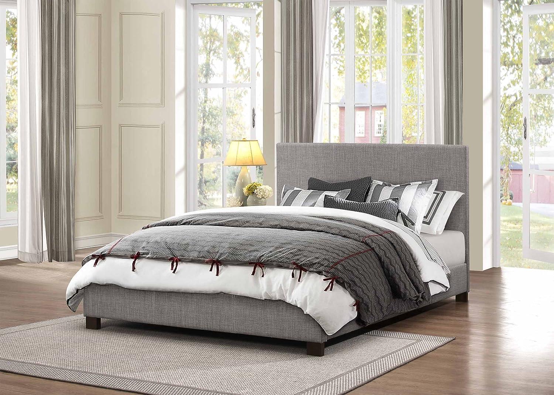 Amazon com  Homelegance 1896N 1 Fabric Upholstered Bed  Queen  Grey   Kitchen   Dining. Amazon com  Homelegance 1896N 1 Fabric Upholstered Bed  Queen