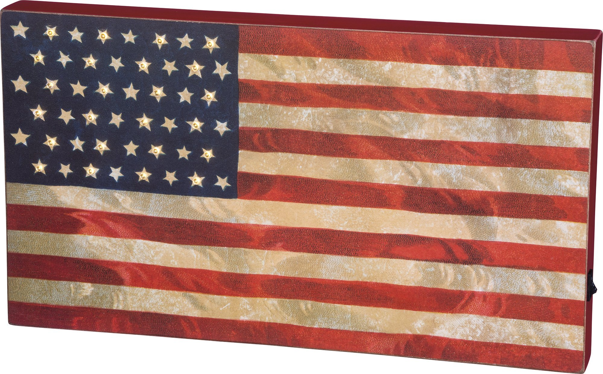 LED Box Sign - ''USA Flag'' 18'' x 10'' by Primitives by Kathy