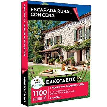 DAKOTABOX - Caja Regalo - ESCAPADA RURAL CON CENA - 1100 hoteles como casas rurales,