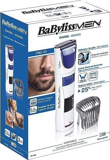 BaByliss - Recortador de barba T810E - Barbero con tecnología W ...