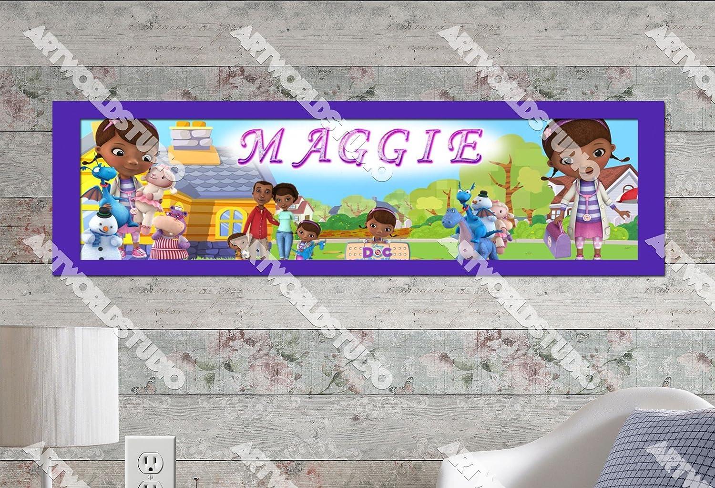 Amazoncom Doc Mcstuffins 1 10x32 Personalized Name Poster