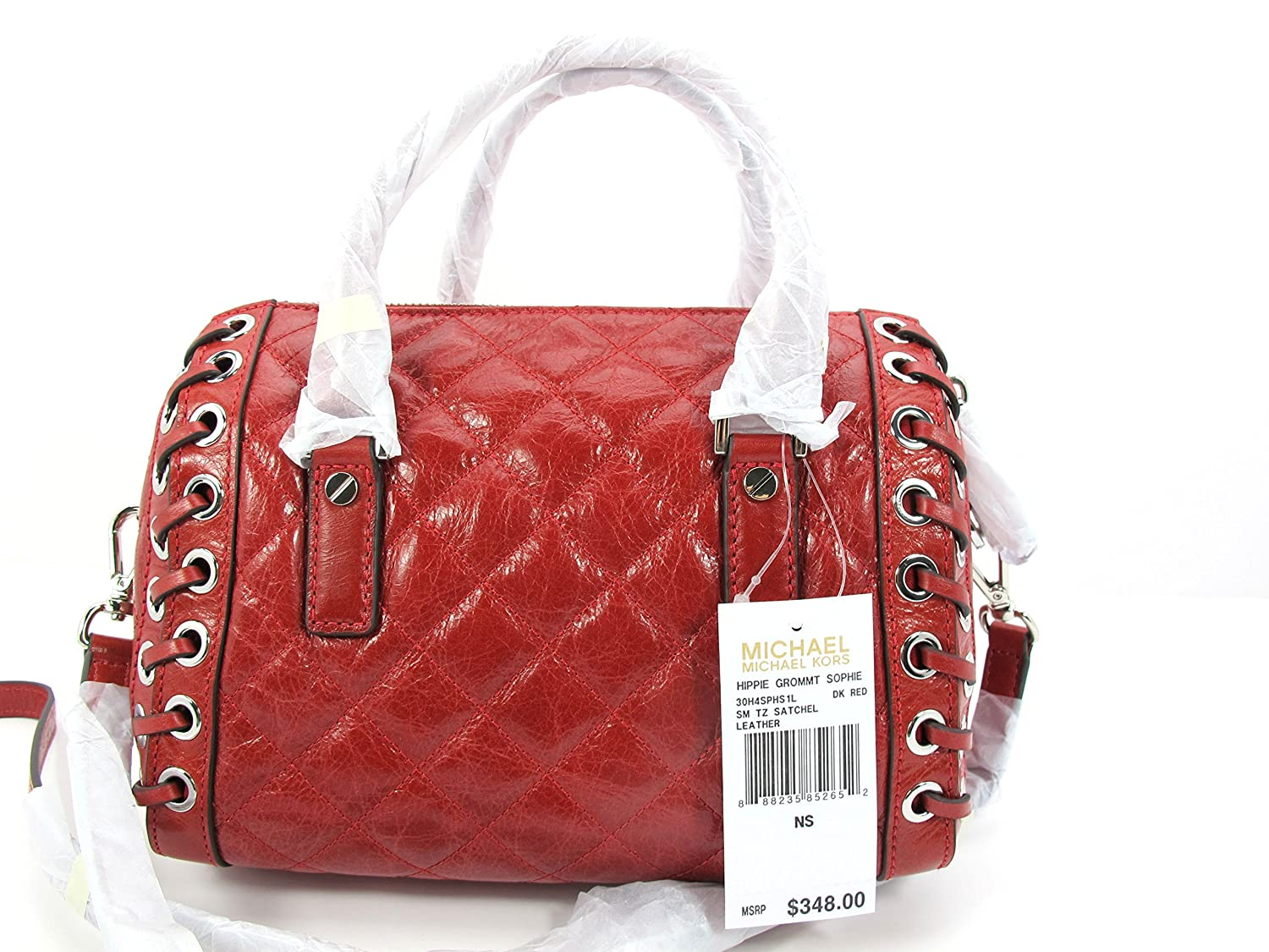 d2ffe7f51a22 Michael Kors Sophie Small Quilted-Leather Satchel  Handbags  Amazon.com