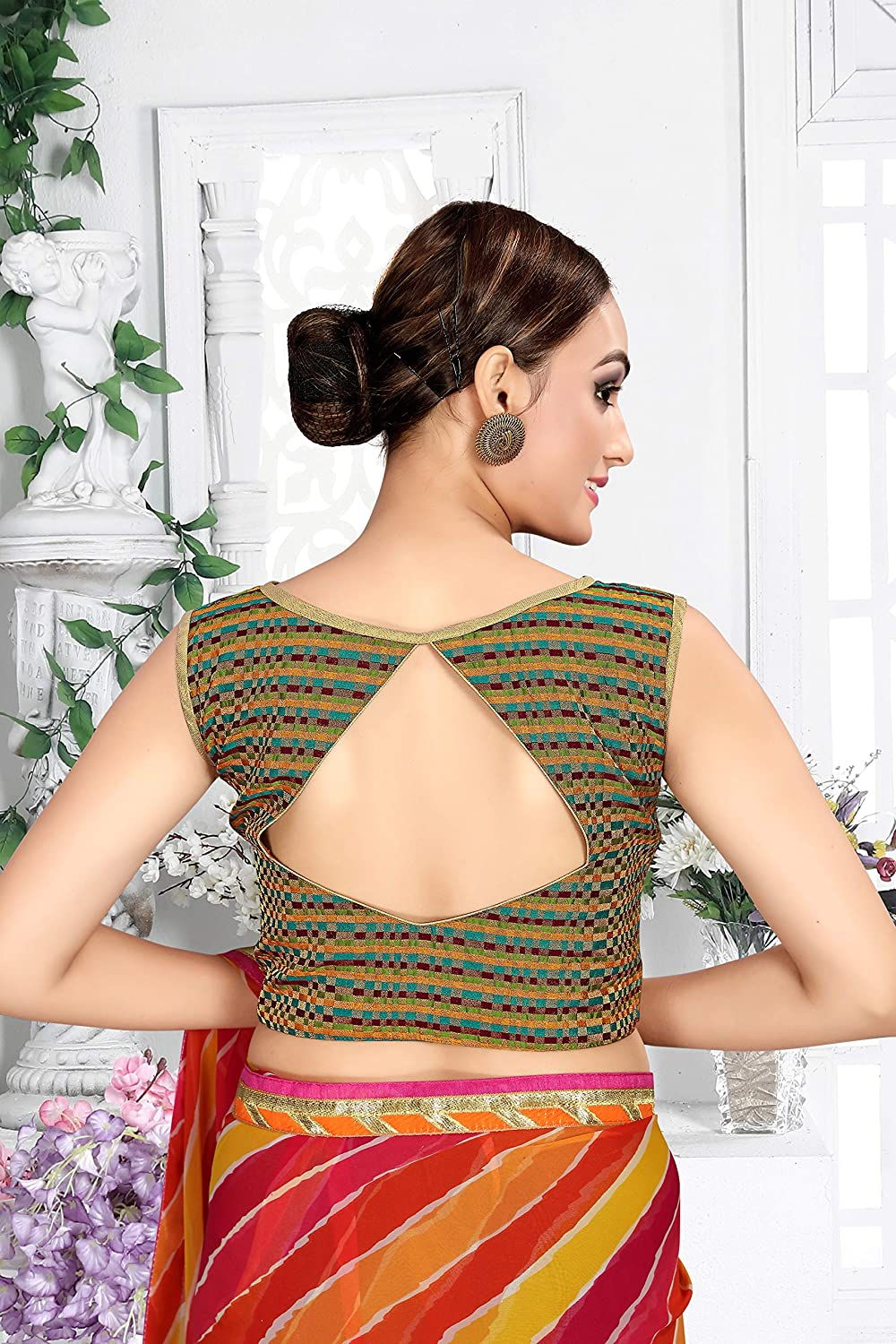 Womens Party Wear Readymade Bollywood Designer Indian Style Padded Blouse for Saree Crop Top Choli