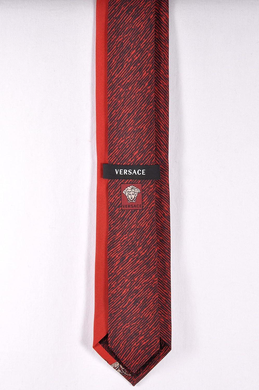 Versace - Corbata - para hombre multicolor rojo: Amazon.es: Ropa y ...