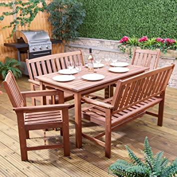 Alfresia Monaco Wooden Garden Furniture Set Rectangular Dining