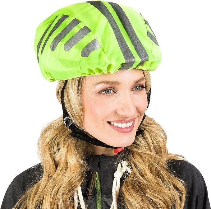 Regenschutz Helmschutz Fahrrad Helm Helmüberzug Cover wasserabweisend